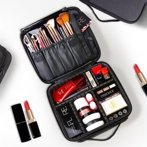 Cosmetic Bags & Cases Professional Vanity Bag Women Travel Make Up Big Capacity Cosmetics Suitcases For Makeup