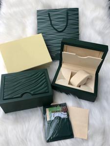 caja de cuero caja de reloj de madera y factura en papel caja de calidad superior del reloj de los hombres