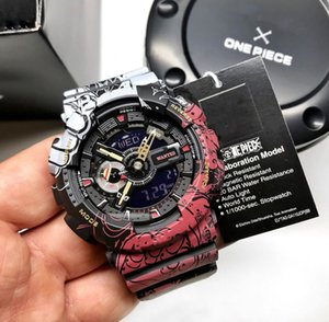 Una pieza de choque para hombre del reloj 110 Marvel Super Limlited Edición luz auto Militar G muñeca del estilo de choque Relojes al por mayor con la caja original