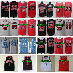 Vintage Mens 23 Michael JD 1 Derrick Rose Basketball Jersey Authentic Stitched Retro Classic Mesh 23 Michael JD Chicago