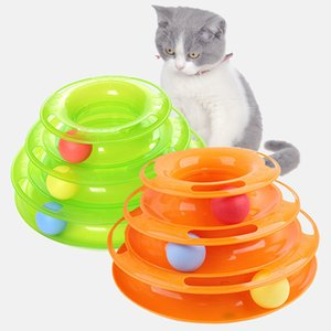 Training Amusement Platte Kitten Drei Ebenen Haustier Katze Spielzeug Turm Tracks Disc Katze Intelligenz Amusement Dreischeiben Spielzeug Ball