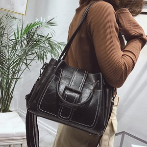 Bolso casual de las mujeres Bolso de cuero de la PU de las mujeres Crossbody Luxury Lady Mano Bolsos Femenino Messenger Bag de alta calidad Big Tote Sac Bols Imwgx