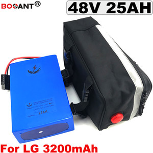 Free Shipping Electric bike Lithium Battery pack 13S 48V 25AH E-bike battery +a Bag For Bafang BBSHD BBS02 1200W Motor