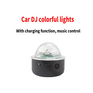Car Accessories Mini Colorful Atmosphere Light Car Party Light DJ LED RGB Interior Lamp Club Disco Magic Stage Effect