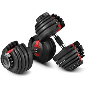 Adjustable Dumbbell 2.5-24kg Fitness Workouts Dumbbells Weights Build Your Muscles Outdoor Sports Fitness Equipment Sea transport 2pcs