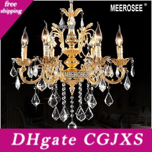 Classique Lustres Luminaire Cristal Lustre Lampes pour Foyer Hall Md8861 Crystal Clear Lustre