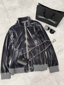 Luxury designer CH2020 autumn and winter new cross patch leather velvet zipper jacket jacket men and women the same style