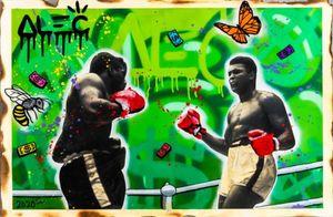 Alec Tekel Artworks Ali BOKS BW 09 Ev Dekorasyonu Handpainted HD Yağ On Tuval Wall Art Canvas Resimler 200.824 Boyama yazdır