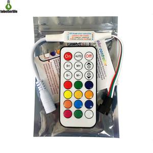 5-24V LED بكسل تحكم 21 مفاتيح البسيطة بكسل قتامة 3PIN على وحدة الضوء WS2812B WS2811 LED قطاع الخفيفة بكسل