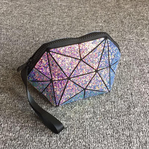 Cosmetic Bags geometric semi circle cosmetic bag for women toiletry bag fashional makeup bag brand Drop Shipping