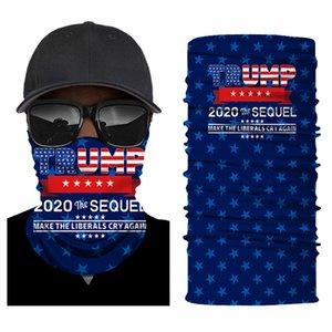 Trump Biden Güneş kremi Yüz Turban 2020 Seçim Turban Açık Binme Çeşit Magic Turban Amerikan Bayrağı Ter emici Dijital Yaka Maske
