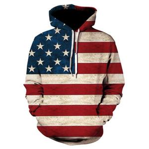 2020 Марка 3d Fun Design Флаг США Hoodie моды мужской и женский 'S Sports Street Wear скейтборд Thin Толстовка Пуловеры