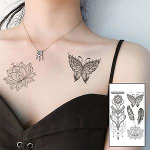 50Pcs Tattoo Sticker Personality Retro Hand Back Pattern Waterproof Tattoo Sticker Watercolor Pattern Temporary Tattoo Body Art Body Art