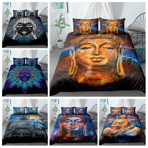 Buddha Bedding Set Queen King Sizes Bedclothes For Home 3D Printed Duvet Cover Sets With Pillowcase 2 3Pcs Textile