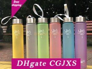 6 цветов Матовый Leak -доказательство пластиковых стаканов 280мл H2o Unbreakable Портативный бутылки Водные виды спорта Для Открытый Спорт Бег Отдых на природе