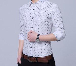 Aturestory Mens Spring Autumn Business Wear Shirt Men Casual Long Sleeve Lapel Shirts Male Simple Lapel Tops Camiseta55