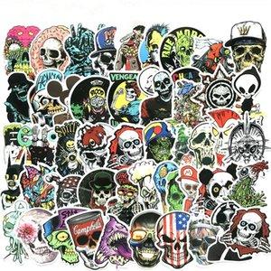 50pcs / Lot Kafatası Araç Stickers, Bavul, Skateboards, Notebook, Gitar Kartlar, Kişisel Su Yalıtım Çıkartma Cadılar Bayramı Çıkartması tekrarlanması değil
