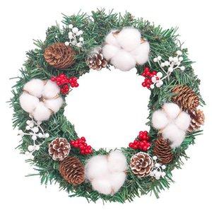 Saray'ın Noel Kapalı Duvar Kapı Partisi 1pc Garland Yaratıcı Dayanıklı PVC Suni Nefis Yeniden kullanılabilir Çelenk