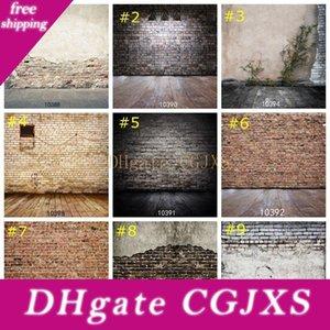 Mur de briques Photographie fond personnalisé rétro en bois Floor Photo de Fond d'écran Décor studio Props 85 * 125cm