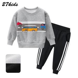 Boy Girl clothes Autumn and Winter Car Pattern Children's Sweater Set Children's Suit Baby Two-Piece Kids Leisure Sport Suit
