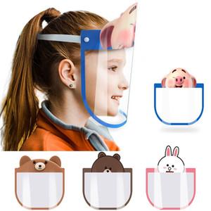 máscaras para niños de diseño contra la máscara de cara completa splash Chindren sheild saliva polvo transparente campana montado en la cabeza tapa aislamiento extraíble