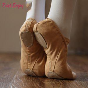 Cuoio Mesh Calisthenics competenze di formazione per le dita dei piedi Pad Set Belly Ballet Shoes inferiore molle Scarpe Cat Claw di danza