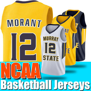 Universidade NCAA 12 Ja Morant Jersey Murray State 12 Deandre Hunter Zion 1 Williamson 5 RJ Barrett 21 Rui Hachimura 23 Jarrett Culver Jerseys