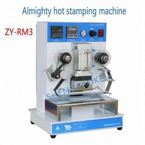1PC ZY-RM3 Sıcak Bronzlaştırıcı Makine Yüce Sıcak Baskı Makinesi 220V / 110V Damgalama Kelime Değişim İçerik uxZU #