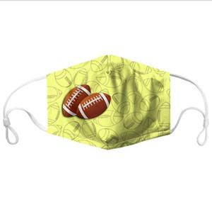 أقنعة الكرة الطباعة قناع الوجه الرياضة مكافحة الغبار الفم غطاء كرة القدم كرة السلة الكرة الطائرة الكرة اللينة طباعة قناع قابل للغسل مكافحة الضباب قناع DHD679
