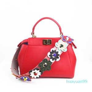 New-strap detachable wide strap double rivet snake-print for lady bag accessories