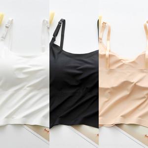 beimq buz Rao Underwear dikişsiz yelek omuz Gu ipek spor Underwear spor nefes dikişsiz tüm maç yaz askısı göğüs 3KE7s