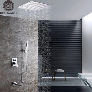 Tavan Banyo Duş Seti Tek Kolu 3 Fonksiyonlar ELDUŞLU ve Döndür Küvet Spout ile Mikser dokunun Duş Monteli