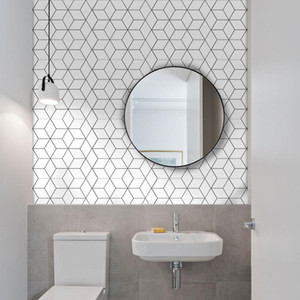 10Pcs Badezimmer Self Adhesive Mosaik-Fliesen-Aufkleber Wasserdicht Küche Aufkantung Wandaufkleber DIY Nordic moderne Hauptdekoration