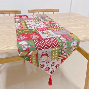 Abanderado de Navidad Mantel Santa Claus banquetes decoración del hogar bordado de Navidad Tabla de Navidad cubierta de la historieta malla para cubrir FFA4335