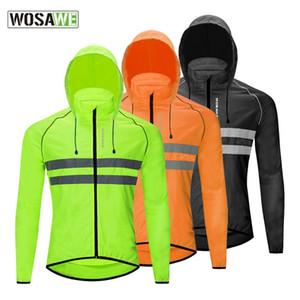 Riflettente antivento Men ciclismo giacca con cappuccio impermeabile strada mountain bike Ciclismo Windbreaker di guida della bicicletta MTB Abbigliamento