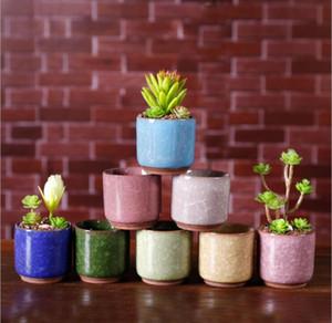 Eis-Sprung-Blumentöpfe Sukkulentengarten Pflanzen Topf Mini Schreibtisch Büroblumentöpfe Keramik High Quality