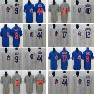 2020 Seasons Chicago Hommes Femmes Kids Baseball 9 Javier Baez Jerseys cousu 44 Anthony Rizzo 17 Kris Bryant Baseball Maillots