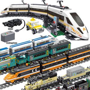 641pcs Technic Batterie électrique Powered Electric City Train Fuxing Bâtiment à grande vitesse Bâtiment Brique Cadeau Jouet pour enfants