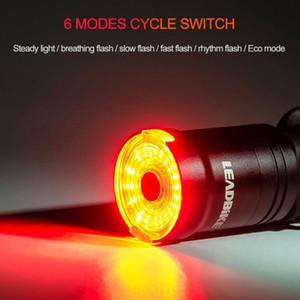 새로운 스마트 자전거 후면 빛 일반 자전거 꼬리 빛 시작 / Light 미사용 충전을 중지 제동 감지 LED 방수 IPX6의 USB