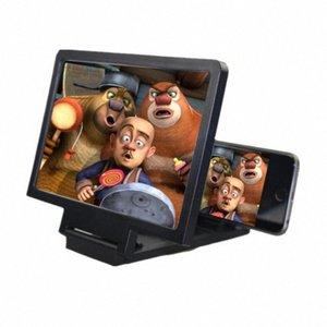 Loupe écran 3D Mieux regarder les vidéos Film 3x Zoom écran agrandi Vidéo rayonnement Eye Bureau Loupe smqU #