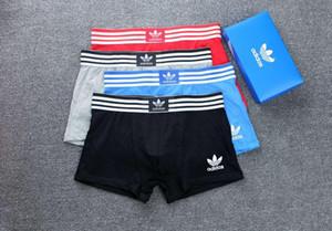2020 Hommes Designer Marques Boxeurs Caleçons Sexy Classique Hommes Boxer Underwear Shorts coton respirant Bermudas 3pcs avec la boîte