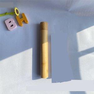 Brosse à dents Box Holder Bamboo Tube Canister Case Accessoires de bain Fournitures Hôtel Voyage en bois plein air portables Nouveau 5 2XL C2