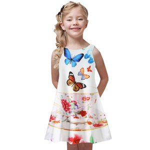 Toddler Infant Baby Girls Dress Stars Print Summer Clothing Sleeveless A-Line Casual High waist Dresses Outfits