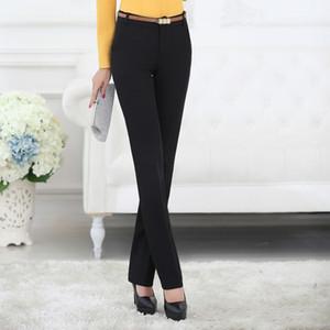 Lenshin Plus Size Formal Adjustable Hosen für Frauen-Büro-Dame-Art Arbeitskleidung Gerade Gürtelschlaufe Hosen Business Design CX200821