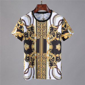 19SS Signature T-shirt Paris l'Europe Broderie Imprimer Lettre Mode Homme T-shirts Casual Hommes Femmes Vêtements Coton T Hauts FG9571