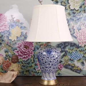 Vintage chinesischen Porzellan-Keramik-Tischlampe Schlafzimmer Wohnzimmer Hochzeit Tischlampe Jingdezhen italienische Tischlampen