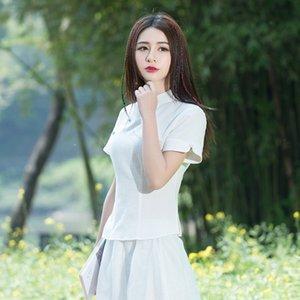 P9o4x G9TqN C6228 stile etnico migliorato estate delle donne del pugile cheongsam Repubblica di Cina stare Group top top nazionalità collare Ethnic solido