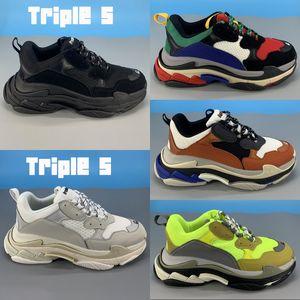 Platform Triple ler 6 katmanlı kombinasyon tek Spor ayakkabılar üçlü siyah beyaz gümüş çok renkli neon sarı moda erkeklerin kadınları gündelik baba ayakkabı kırmızı