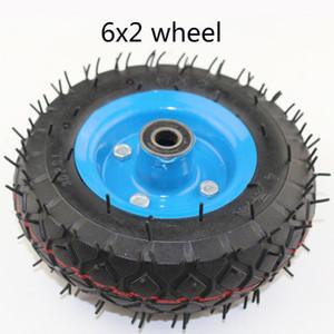 "6X2 인플레이션 타이어 휠을 사용하여 6 ""타이어 합금 허브 160mm 공압 타이어 전기 스쿠터 압축 공기를 넣은 바퀴 트롤리 카트 에어"