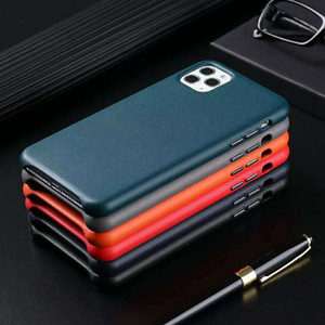 High quality business style high grade Hard leather cell phone case for iPhone 12 11 Pro max xr x xs max 7 8 plus 6 6s plus